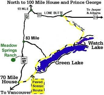 A Green Lake / Watch Lake Area Map Including Meadow Springs Dude Ranch