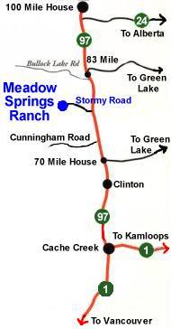 A map to find Meadow Springs Guest Ranch