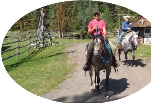 Horseback riding at Meadow Springs Guest Ranch
